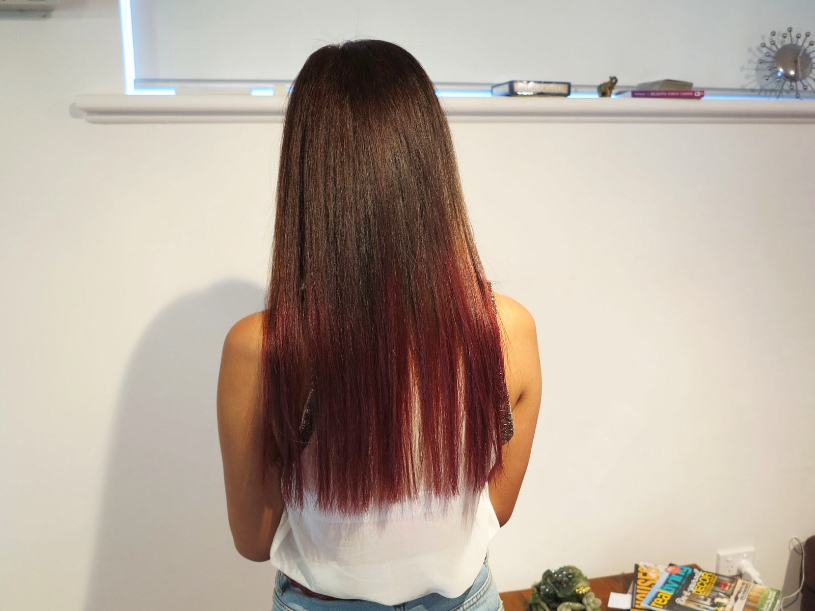 KimKine.com: New Hair- Dark Ash Brown with a Dark Cherry ...