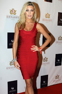 Abbey Clancy Tight Red Dress