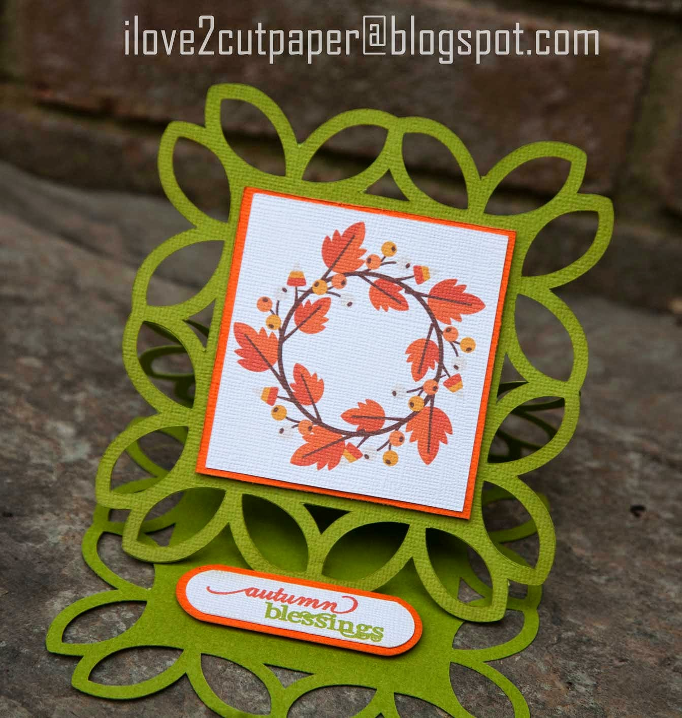 Easel Card - Autumn Blessings