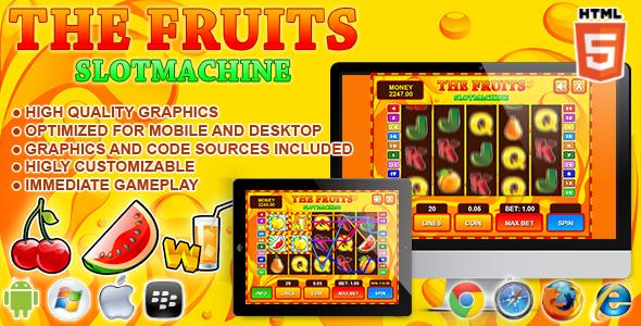 Slot machine html5 template