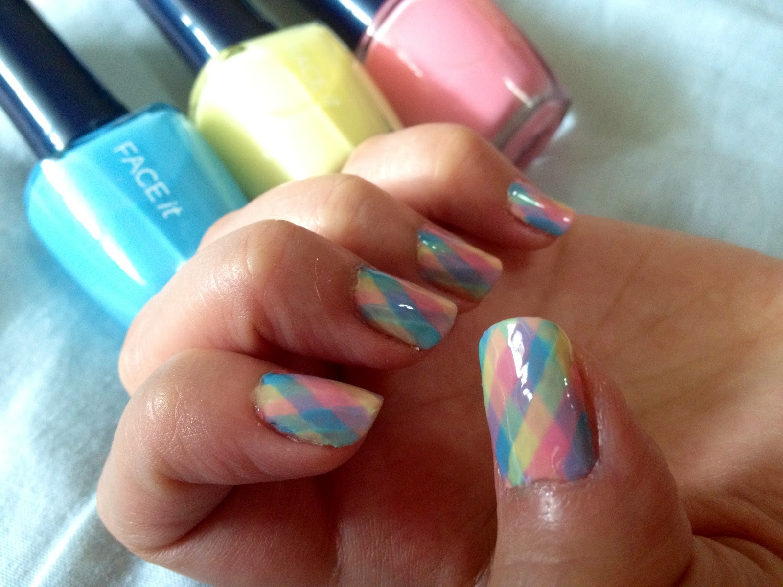 Crazy with Nails: Easter Special Checkered Nails