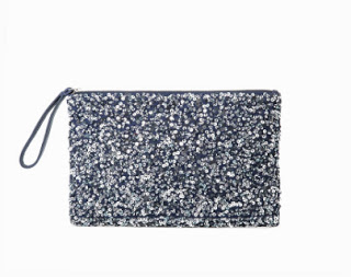 Mango Sequinned Clutch