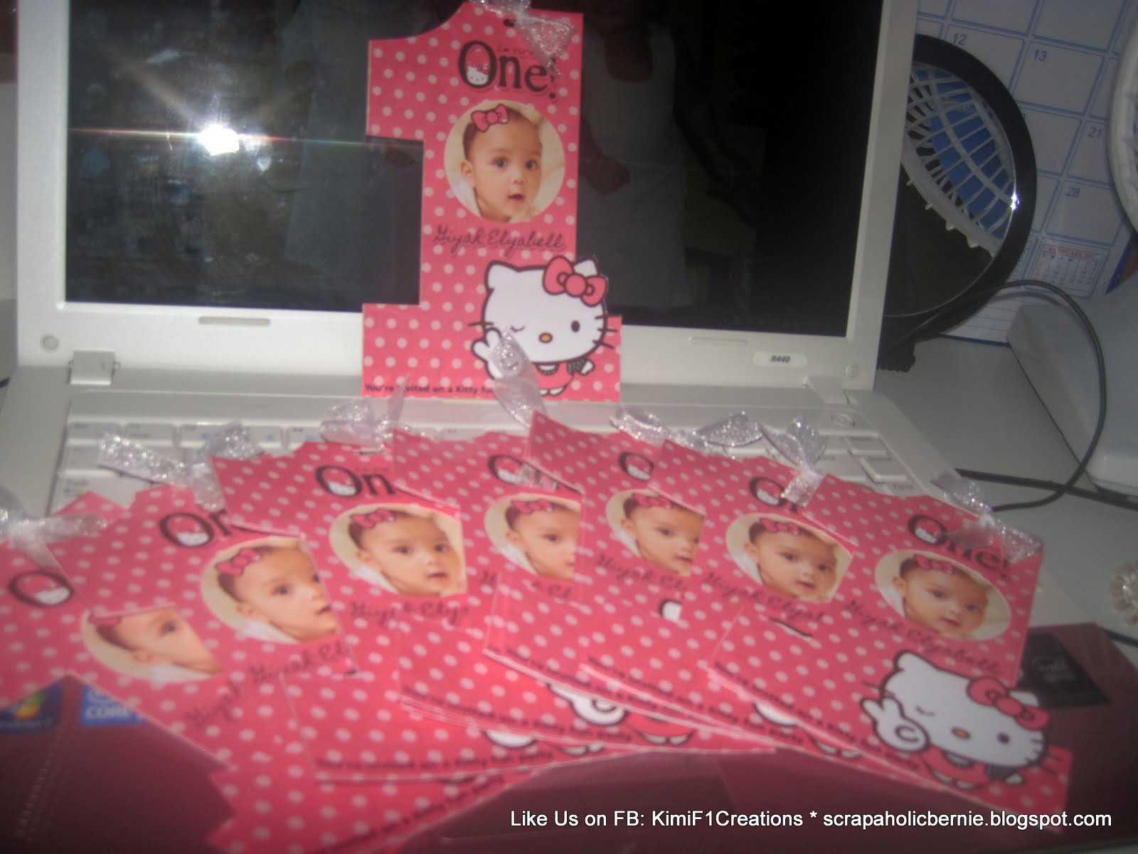 f1 digital scrapaholic  hello kitty 1st birthday 2 page