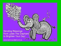 """Bless You!"" Says Lalee The Elephant..."