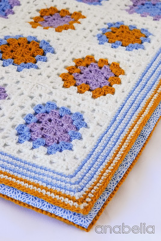 Crochet baby blanket by Anabelia