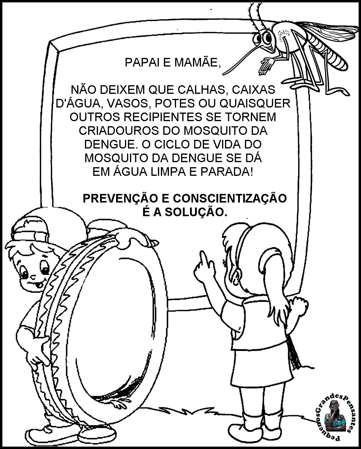 Populares Pequenos Grandes Pensantes.: Projeto Dengue na Educação Infantil. WY76