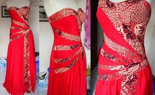 Model Gaun Baju Batik Pesta
