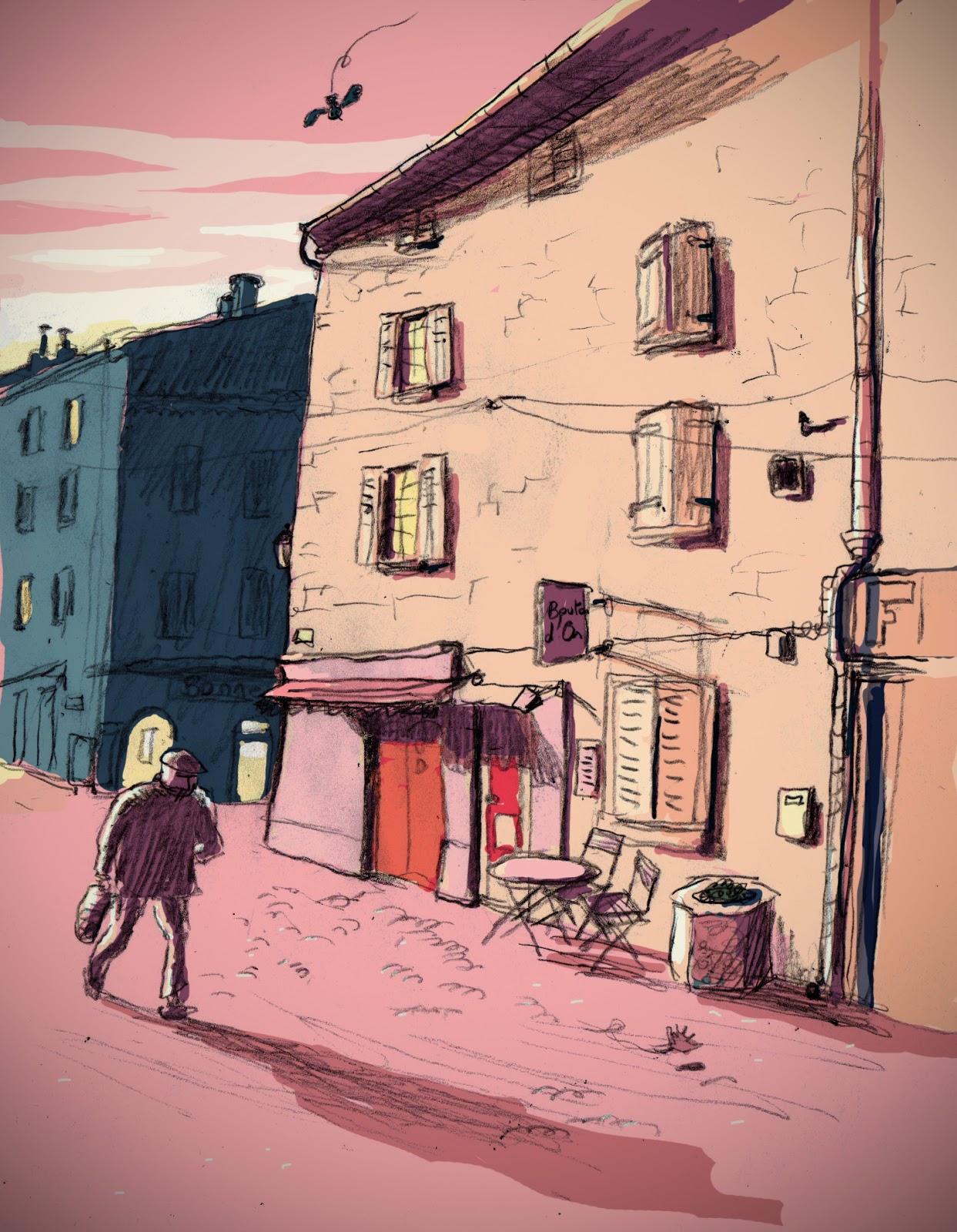 Quentin denoyelle illustration rue de salon de provence - Rue kennedy salon de provence ...