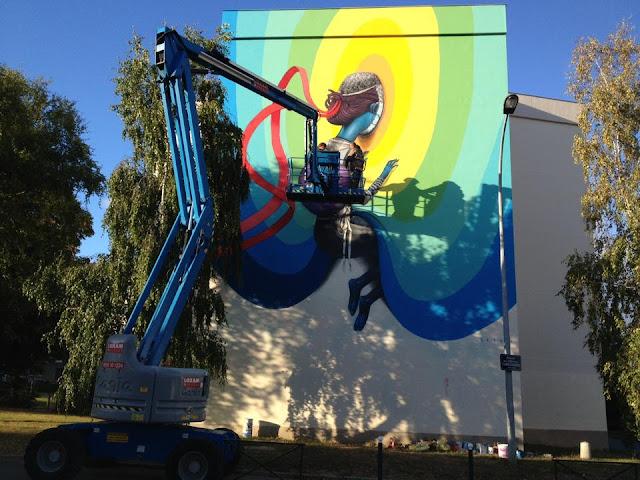 Street Art By Seth In Rennes, France For Teenage Kicks Urban Art Festival. 4