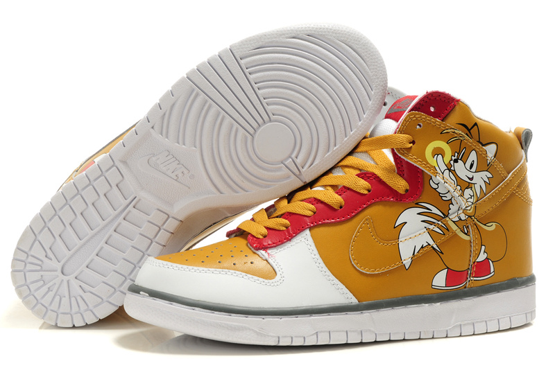 Custom Miles Prower Nikes Tails Dunk Sonic the Hedgehog Sneakers For Men