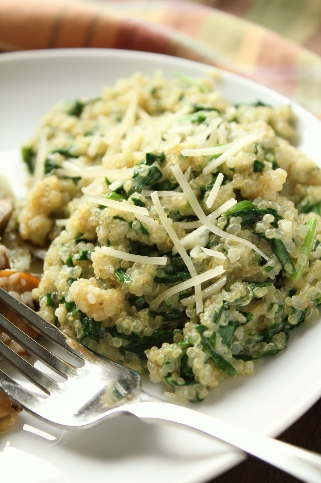 ... adapted from allrecipes com cheesy quinoa pilaf with spinach serves 4