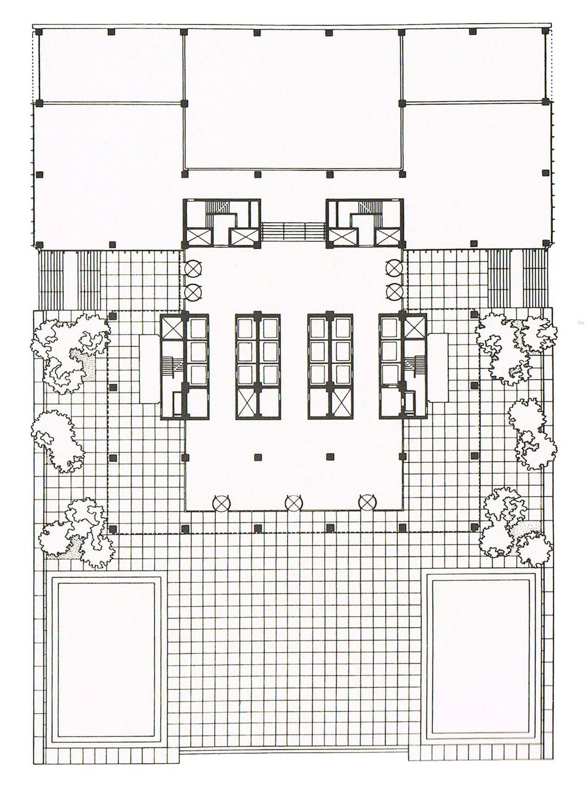 gallery for seagram building plan