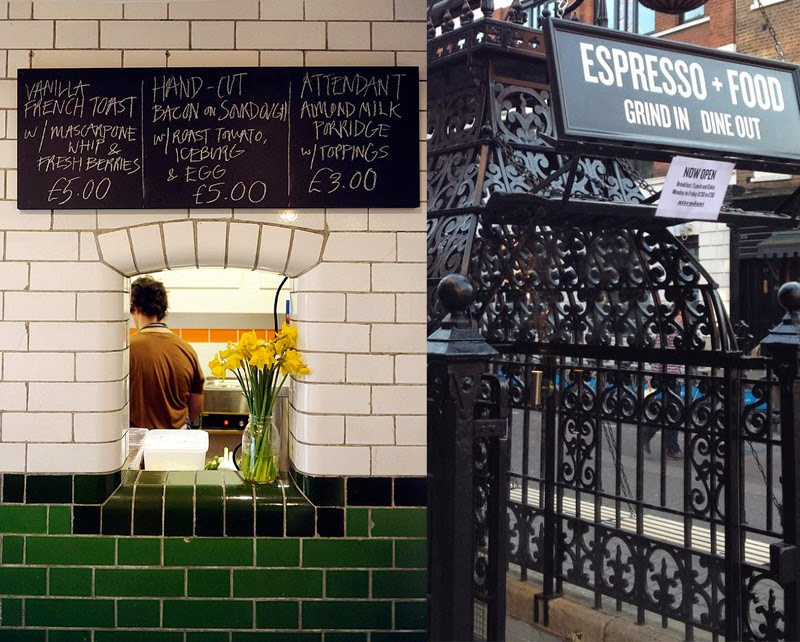 Attendant un café único bajo tierra en Londres