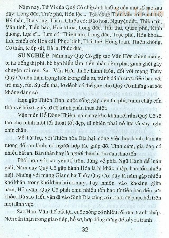 TỬ VI TUỔI ĐINH SỬU 1997 NỮ MẠNG