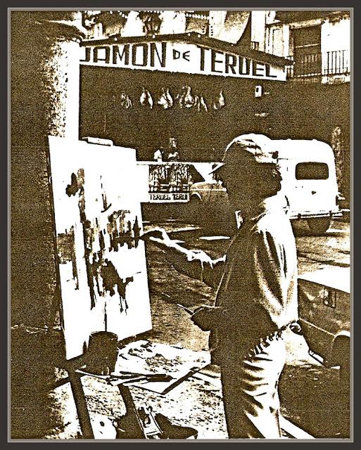 TERUEL-PINTANDO-FERIA DEL JAMON-ERNEST DESCALS-PINTOR-