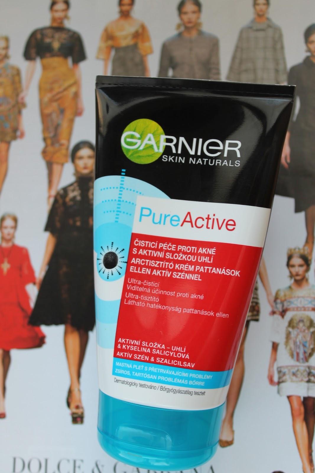 Garnier Pure Active s aktívnou zložkou uhlia a kyselinou sylicovou