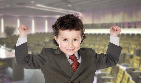 Conference success by a kid businessman