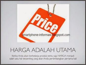 Bandingkan harga dari satu online shop dengan online shop lainnya