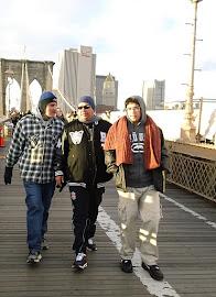 Caminhada na Brooklyn Bridge.