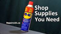 can of WD-40 closeup