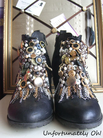 removable buckle boot embellishments