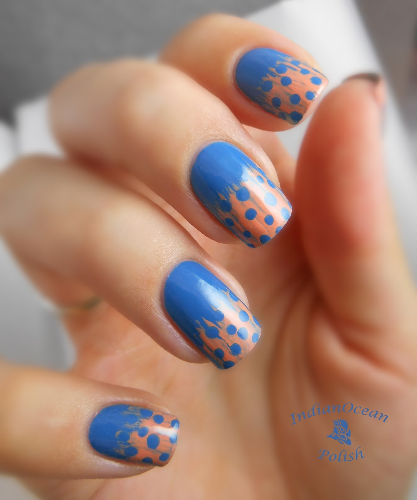 Indian Ocean Polish Spotted Feather Nail Art With A Fan Brush Tutorial