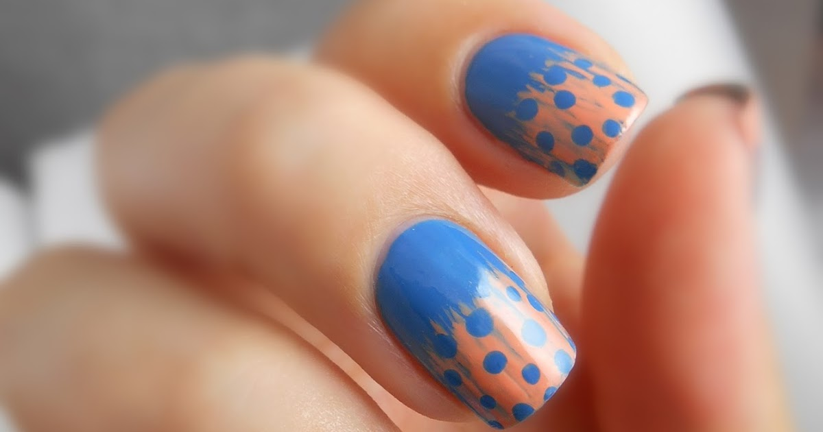 Indian Ocean Polish: Spotted Feather Nail Art With a Fan Brush Tutorial