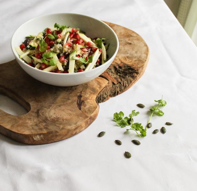 Jewelled quinoa salad
