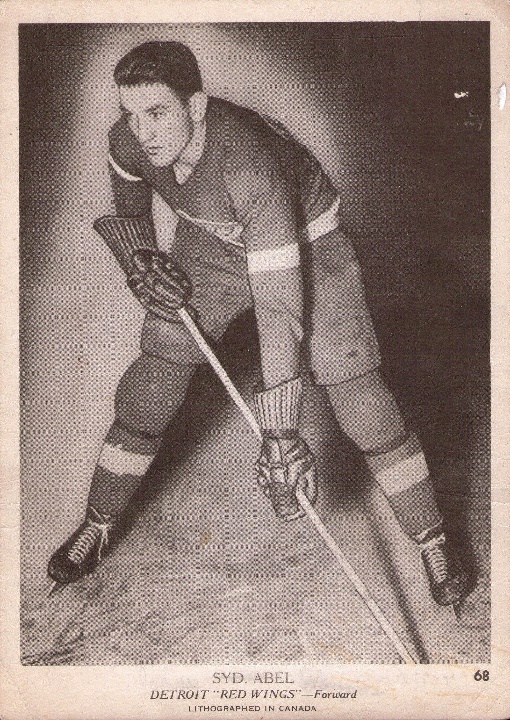 sid abel detroit red wings 1939-40 o-pee-chee