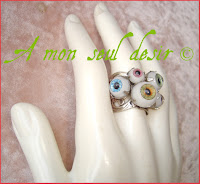 bague oeil yeux cyclope zombie day of the dead eye eyes ring gothic goth