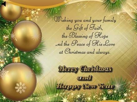 Happy New Year 2016 – Christmas Wish Sample