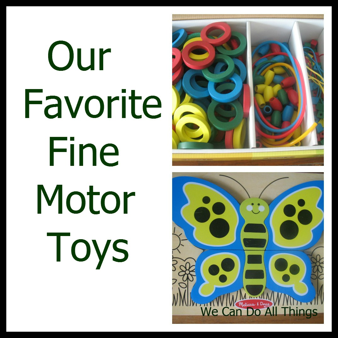 Fine Motor Toys : We can do all things our favorite fine motor toys