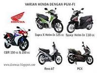 varian PGM-FI Honda,Sepeda Motor Injeksi Irit Harga terbaik Cuma Honda