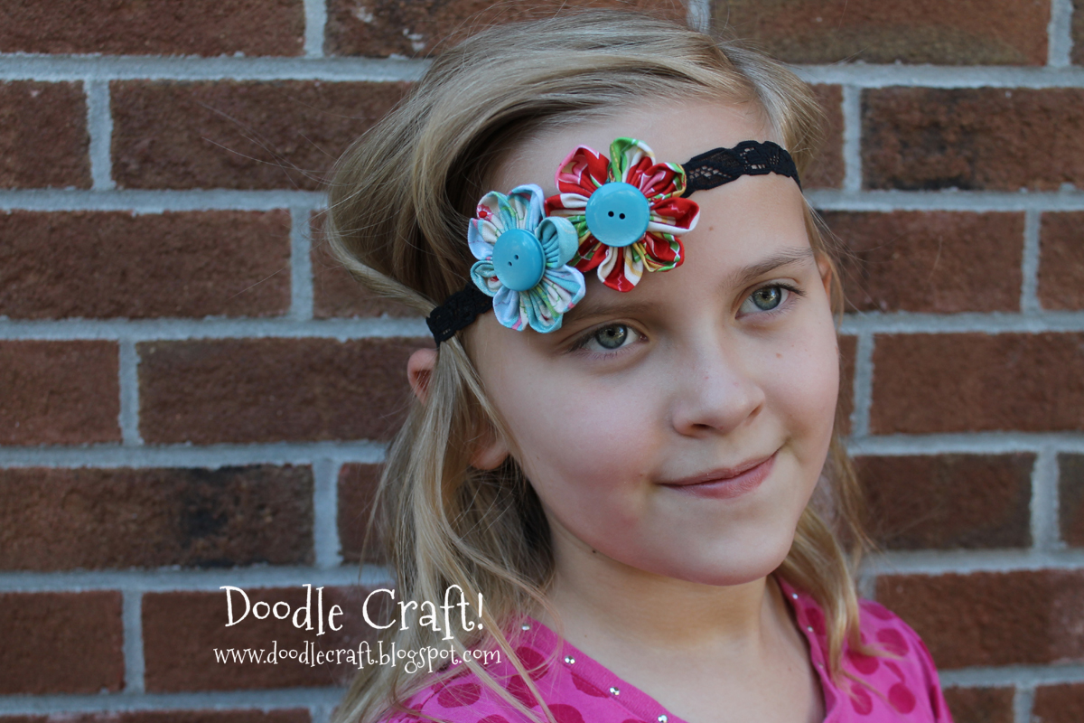 Doodlecraft Fabric Flower Headbands