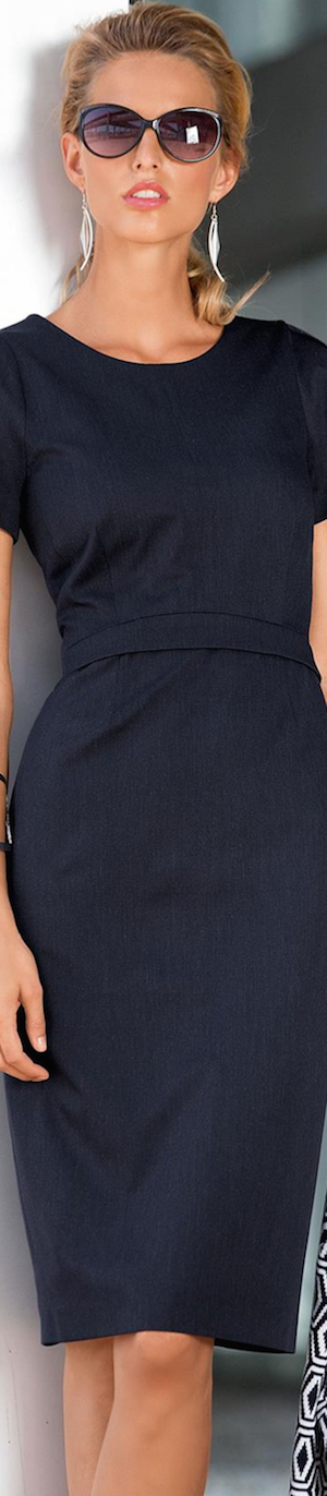 Madeleine Sheath Dress shown in Navy