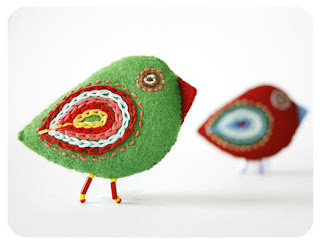 colorful birdies brooches