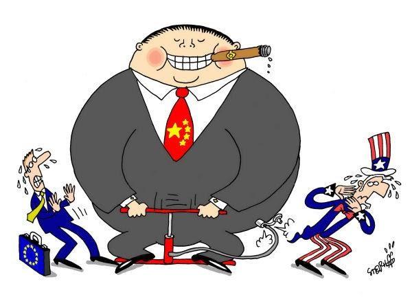 Resultado de imagem para china e brasil charges