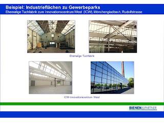 Umnutzungsbeispiel einer Industriefläche zu einem Gewerbepark.