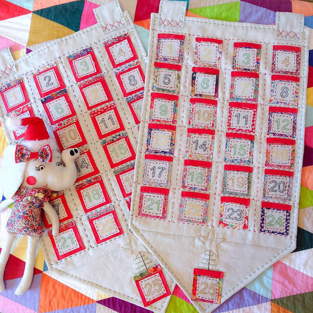 Liberty Christmas Advent Calendars with Elephant Doll