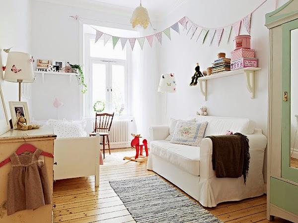 Ideas deco habitaciones infantiles de estilo n rdico para for Nordic style arredamento