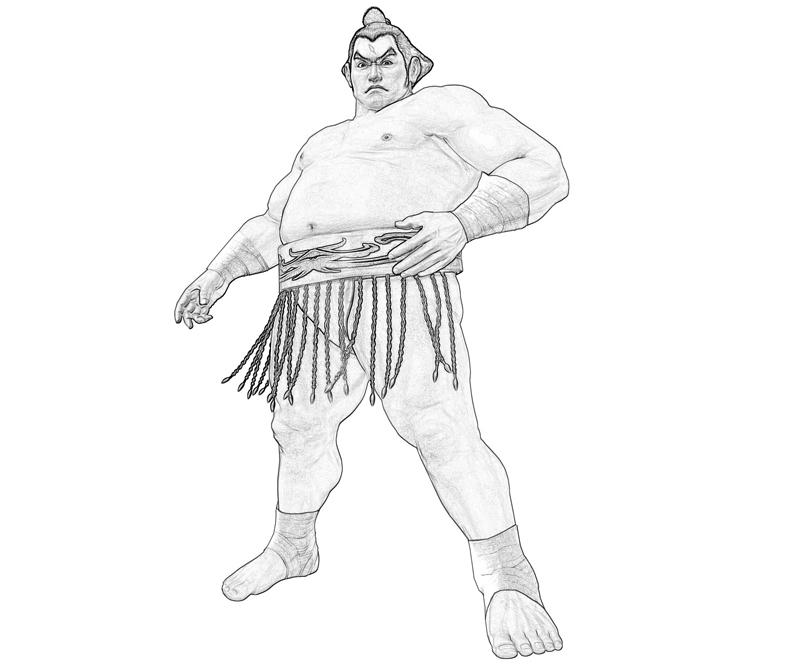 ganryu-style-coloring-pages