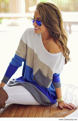 Colorful Long Sweater