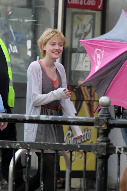 Dakota Fanning - Set of 'Now is Good' - Brighton, UK - 25/07/11 (HQ)
