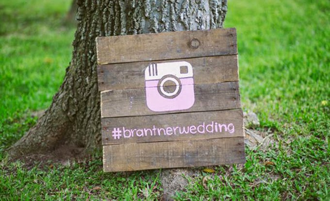 12 Delightful Ways To Use Wedding Signs Throughout Your Wedding - Share Your Wedding Hashtag