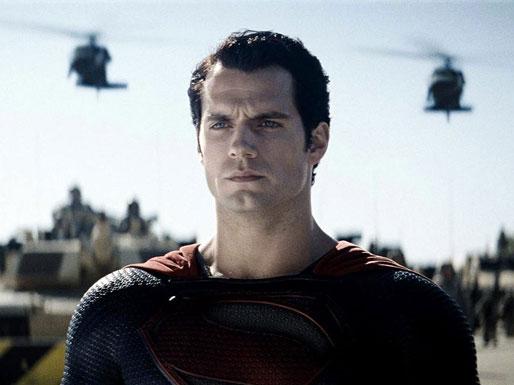 Superman looks on
