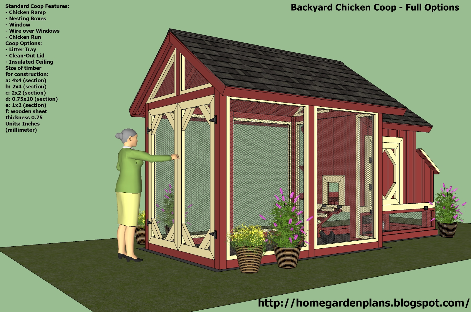 Hobby chicken chicken run plans free for Small chicken house plans