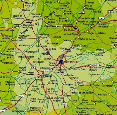 Valladolid Mapa Ciudad de la Región