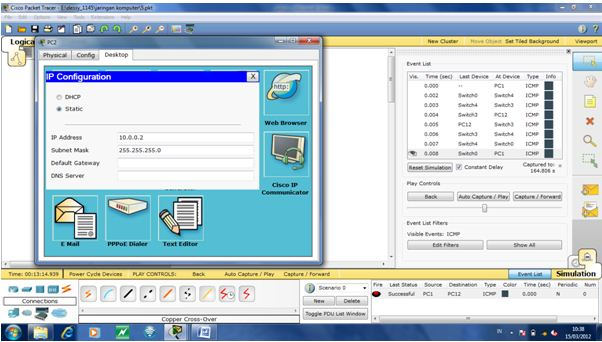 how to clear command prompt in packet tracer