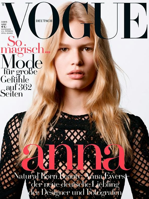 Fashion Model: Anna Ewers by Daniel Jackson for Vogue Germany