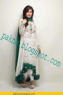 Pakistani star shaista wahidi tail frocks latest eid wear dresses 2013